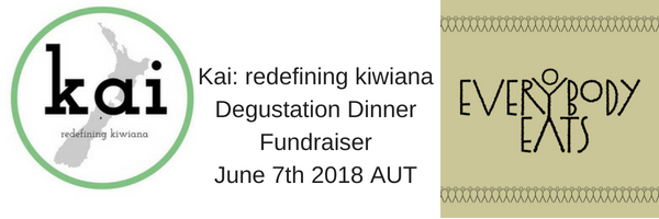 Kai Redefining Kiwiana Degustation Dinner Fundraiser June 7th 2018 AUT