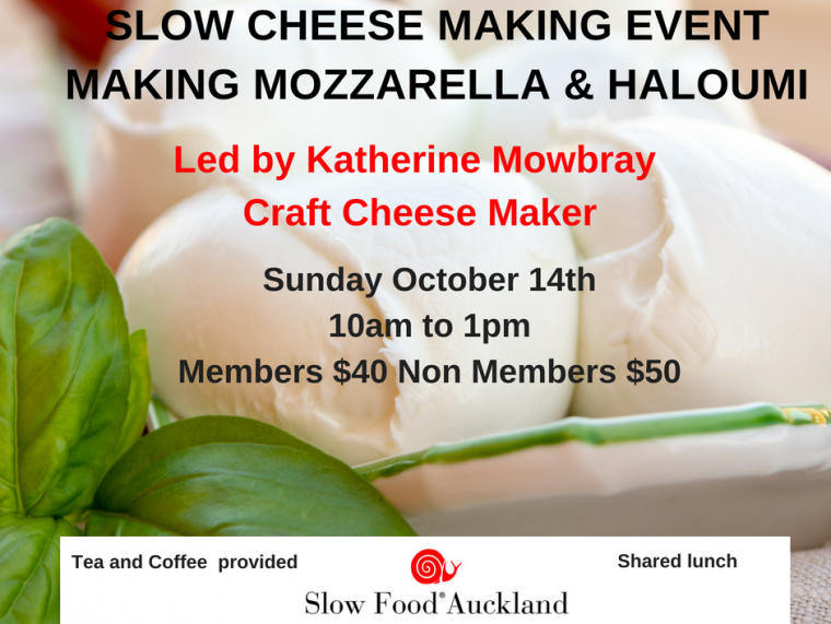 Slow Cheese, Education,Local Food,Slow Food Auckland