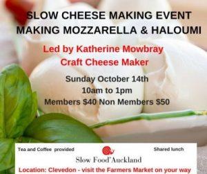 SlowFoodAuckland, Events, Cheese Making,