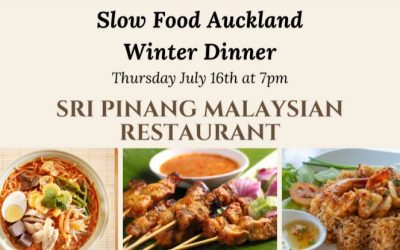 A Winter Dinner, Matariki, Rescue Fish and Terra Madre 2020…